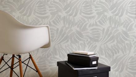Vinyltapete grau Modern Landhaus Blumen & Natur Flavour 031