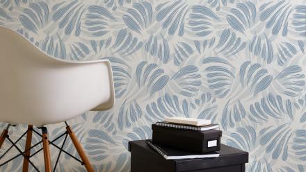 Vinyltapete blau Modern Landhaus Blumen & Natur Flavour 032