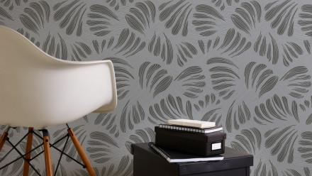 Vinyltapete schwarz Modern Landhaus Blumen & Natur Flavour 035