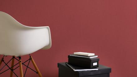 Vinyltapete rot Modern Uni Flavour 045