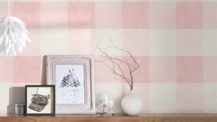 Vinyltapete rosa Modern Landhaus Streifen Paradise Garden 152