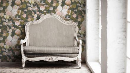 Vinyltapete rosa Vintage Retro Landhaus Blumen & Natur Paradise Garden 171