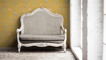 Vinyltapete gelb Vintage Landhaus Blumen & Natur Paradise Garden 194
