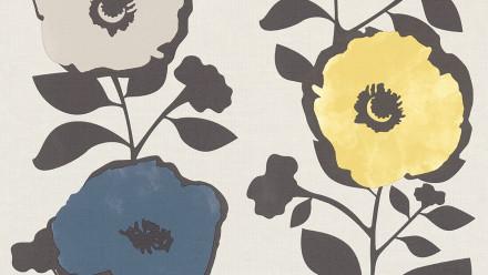 Vinyltapete blau Modern Blumen & Natur Scandinavian 2 241