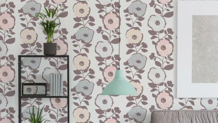Vinyltapete rosa Modern Blumen & Natur Scandinavian 2 242