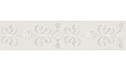 Vinyltapete Bordüre grau Vintage Landhaus Barock Blumen & Natur Ornamente Only Borders 10 272