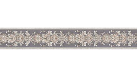Vinyltapete Bordüre grau Vintage Landhaus Barock Blumen & Natur Ornamente Only Borders 10 301