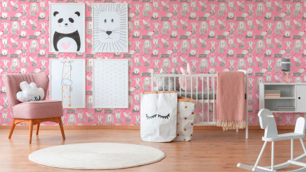 Papiertapete rosa Modern Blumen & Natur Kinder Boys & Girls 6 552