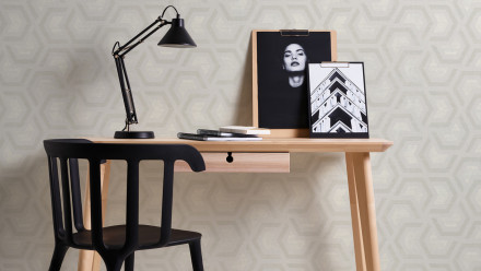 Vinyltapete grau Modern Ornamente Streifen Linen Style 604