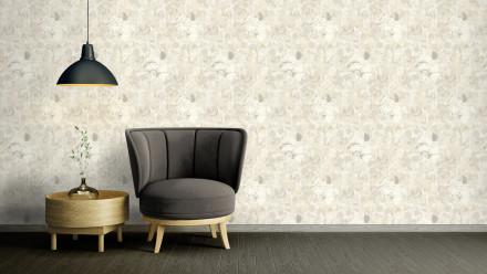 Vinyltapete Strukturtapete creme Modern Blumen & Natur Character 722