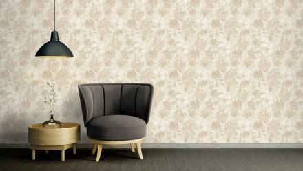 Vinyltapete beige Modern Blumen & Natur Character 723