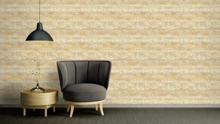 Vinyltapete Strukturtapete gelb Modern Uni Character 743