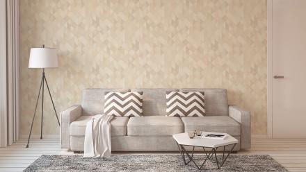 Vinyltapete beige Modern Klassisch Uni Streifen Trendwall 861