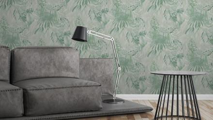 Vinyltapete grün Modern Blumen & Natur Bilder Kinder Greenery 202