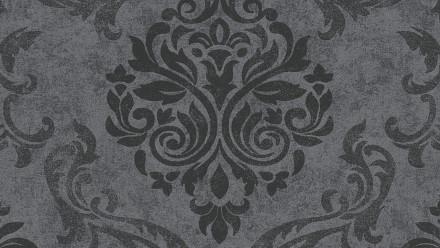 Vinyltapete Designpanel grau Vintage Landhaus Ornamente Blumen & Natur Pop.up Panel 3D 241