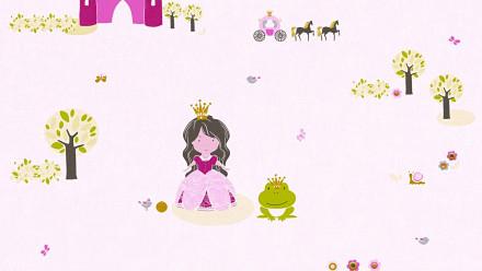 Vinyltapete Designpanel rosa Modern Kinder Blumen & Natur Bilder Kinder Pop.up Panel 3D 321