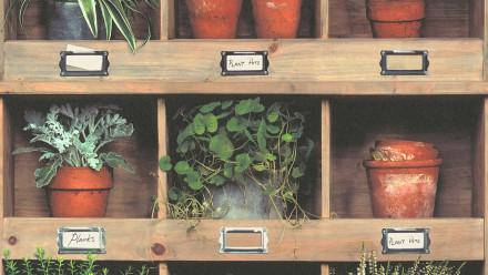 Vinyltapete Designpanel braun Vintage Klassisch Bilder Holz Pop.up Panel 3D 341