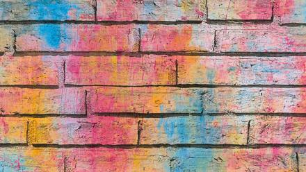 Vinyltapete Designpanel Steintapete rosa Modern Kinder Steine Pop.up Panel 3D 371