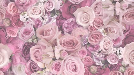 Vinyltapete Designpanel rosa Modern Vintage Blumen & Natur Bilder Pop.up Panel 3D 381
