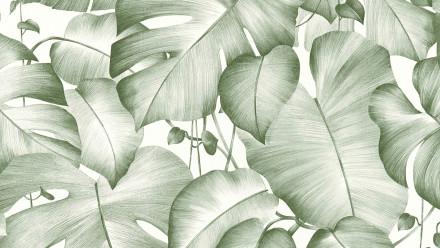 Vinyltapete Designpanel grün Modern Vintage Blumen & Natur Bilder Pop.up Panel 3D 391