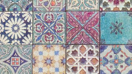 Vinyltapete Designpanel rot Modern Vintage Ornamente Blumen & Natur Pop.up Panel 3D 401