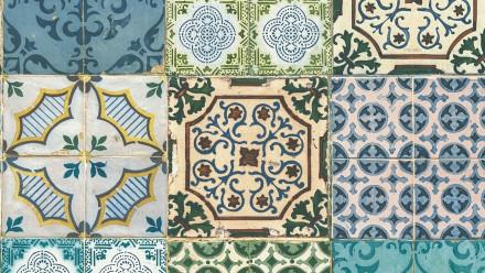 Vinyltapete Designpanel blau Modern Vintage Ornamente Blumen & Natur Pop.up Panel 3D 411