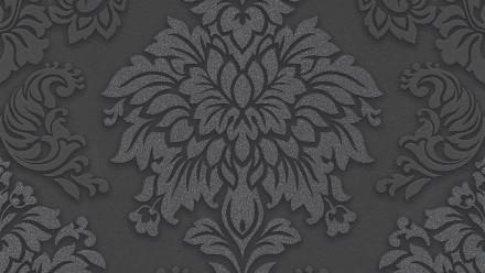 Vinyltapete Metropolitan Stories Lizzy - London Living Ornamentewalls Grau Metallic Schwarz 984