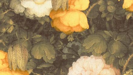 Vinyltapete Metropolitan Stories Anke & Daan - Amsterdam Livingwalls Vintage Blumen Grün Gelb 211