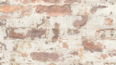 Vinyltapete Metropolitan Stories Paul Bergmann - Berlin Livingwalls Steinwand Grau Orange Weiß 291