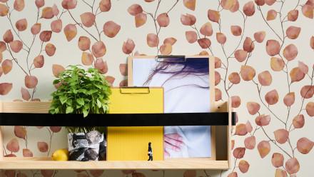 Vinyltapete Greenery A.S. Création Landhausstil Eukalyptus Weiß Orange Rot 443