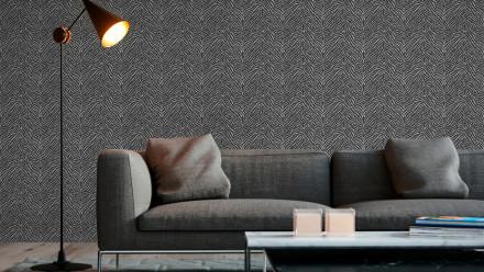 Vinyltapete schwarz Modern Uni Trendwall 201