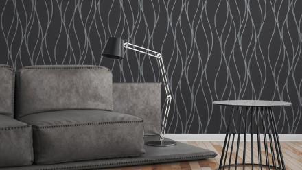 Vinyltapete schwarz Modern Streifen Trendwall 324