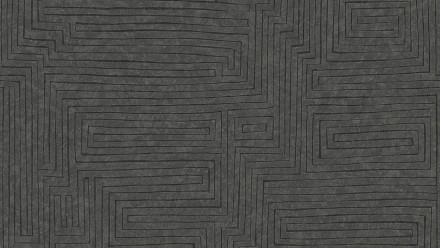 Vinyltapete braun Modern Klassisch Streifen Ethnic Origin 713
