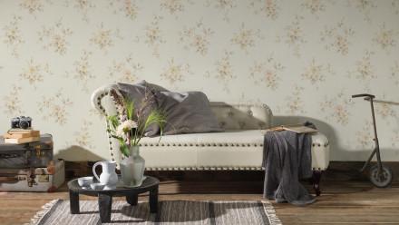 Vinyltapete beige Modern Klassisch Blumen & Natur Romantico 338