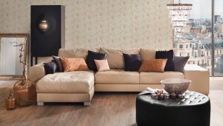 Vinyltapete beige Modern Klassisch Blumen & Natur Styleguide Klassisch 2021 529