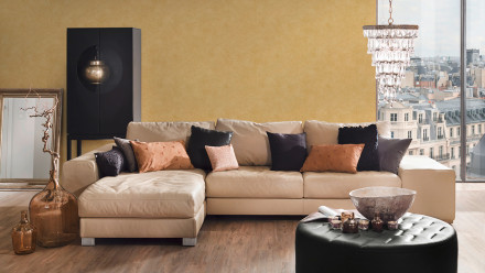 Vinyltapete gelb Modern Klassisch Uni Sumatra 701