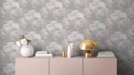 Vinyltapete New Walls Romantic Dream Livingwalls Vintage Weiß Grau Rosa 923