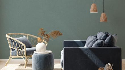 Vinyltapete New Walls Cosy & Relax Living Unifarbenwalls Unifarben Grün 953