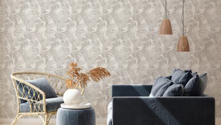 Vinyltapete New Walls Cosy & Relax Living Landhausstil Walls Beige Braun Creme 962