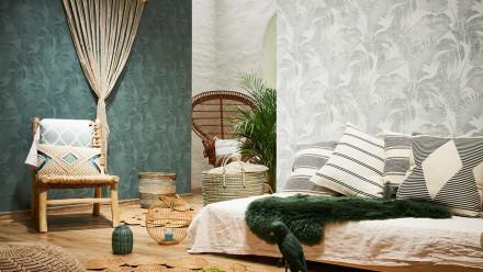 Vinyltapete New Walls Cosy & Relax Living Landhausstil Walls Grün 963