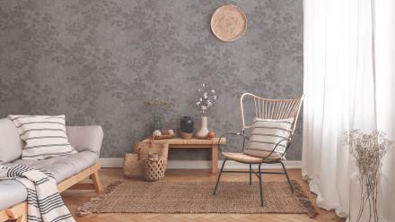 Vinyltapete New Walls Cosy & Relax Living Landhausstil Walls Grau Beige Braun 971