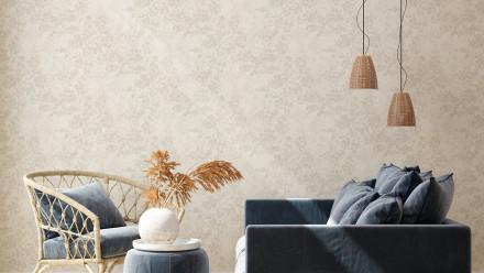 Vinyltapete New Walls Cosy & Relax Living Landhausstil Walls Beige Creme Grau 972