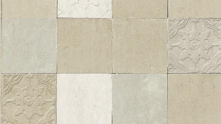 Vinyltapete New Walls Finca Home Living Ornamentewalls Ornamente Creme Grau 064