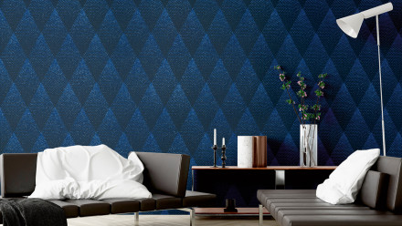 Vinyltapete New Walls 50's Glam Livingwalls Blau Schwarz 191