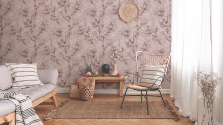 Vinyltapete New Walls Cosy & Relax Livingwalls Vintage Rosa Weiß Creme 204