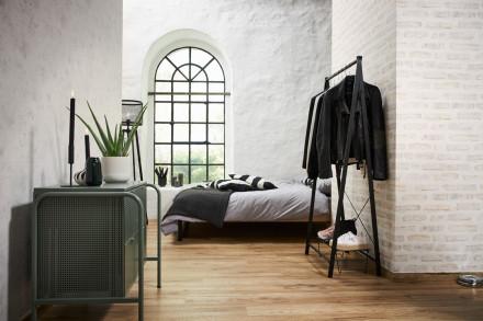 Vinyltapete New Walls Loft Living Livingwalls Steinwand Rot Weiß Grau 221