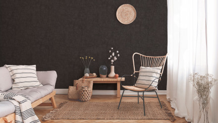 Vinyltapete New Walls Cosy & Relax Living Unifarbenwalls Unifarben Schwarz 235