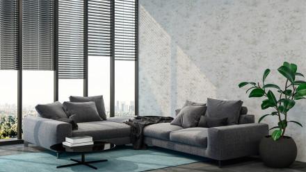 Vinyltapete New Walls Loft Living Livingwalls Betonoptik Grau 292