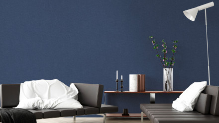 Vinyltapete New Walls Uni Livingwalls Blau 313
