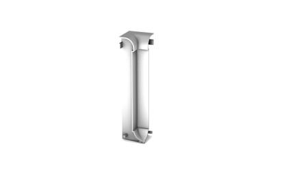 Prinz Innenecke für Aluminium-Sockelleiste / Fußleiste - 13x60 mm